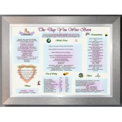 The Day You Were Born -  Pewter Silver Frame