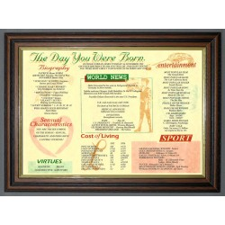 The Day You Were Born - Trad Teak Frame