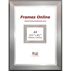 Flat Pewter Silver Picture Frame A4 Size
