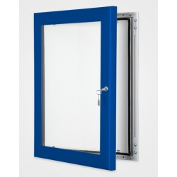 Ultramarine Blue Colour Key Lock Poster Frame 45mm