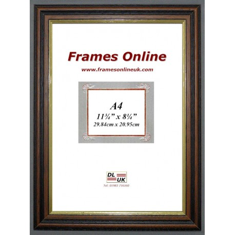 Traditional Teak Wood Picture Frame A4 Size