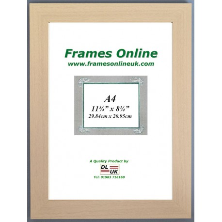 Flat Beech Style Picture Frame A4