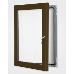 Chocolate Brown Colour Key Lock Poster Frame 45mm