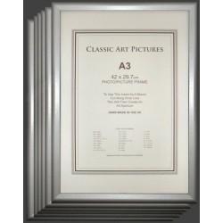 D Range Multi A3 Slope Silver Picture Frames