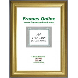 Dome Gold A4 Picture Frame