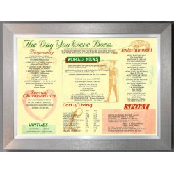 Irish Day You Were Born - Trad Teak Frame