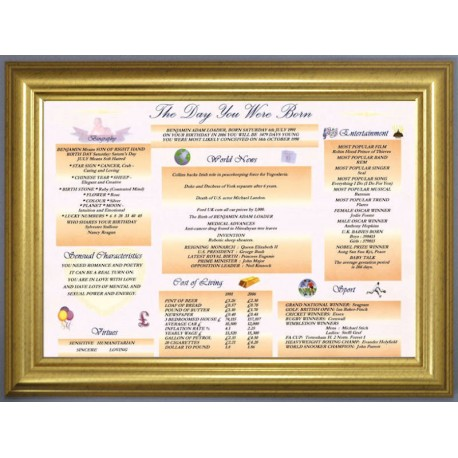 Irish Day You Were Born - Premium Frame