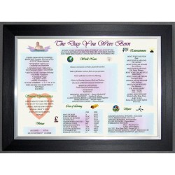 Scottish Day You Were Born -  Premium Frame
