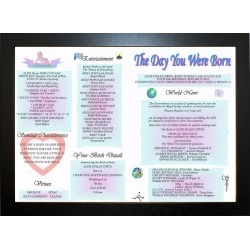 UK The Day You Were Born -  ECO Black Frame