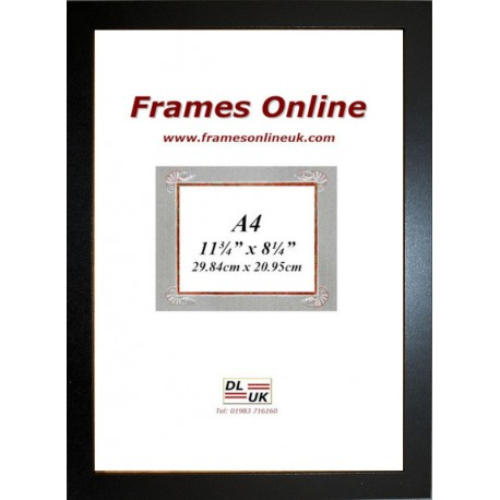 ECO Flat Black Certificate Frame A4 Size
