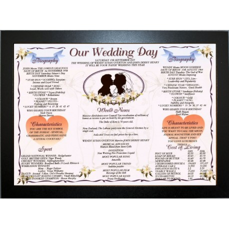 UK Our Wedding Day - ECO Frame Black Traditional