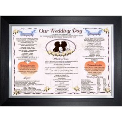 Irish Our Wedding Day - Premium Frame Black Silver Traditional