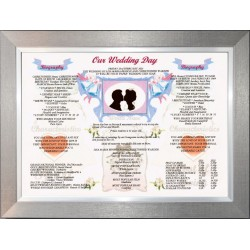 Irish Our Wedding Day - Premium Frame Pewter Silver Modern