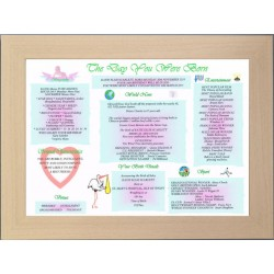 UK Baby Day You Were Born -  Premium Frame