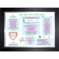 Ireland Baby Day You Were Born - Premium Black Silver Frame - Baby