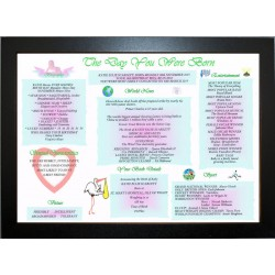 UK Baby Day You Were Born -  ECO Frame