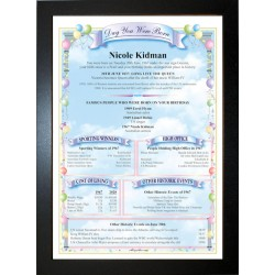 Australia Birthday News Certificate - ECO Black Frame