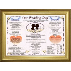 Golden Wedding Anniversary - Premium Gold Frame