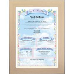 Australia Birthday News Certificate - Premium Beech Frame