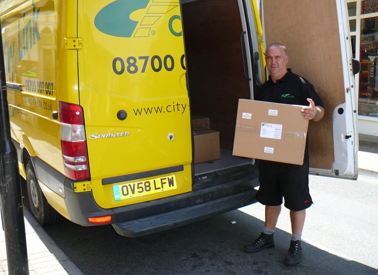 Courier Van and Driver