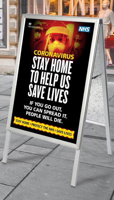 Pavement Sign - Coronavirus Poster